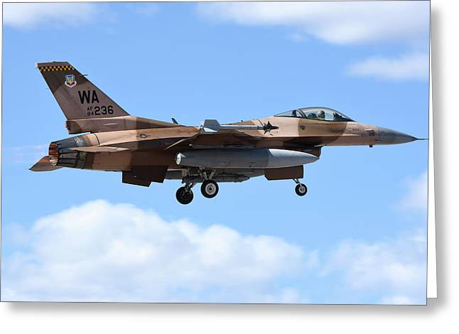 An F-16c Fighting Falcon From 64th Greeting Card by Riccardo Niccoli