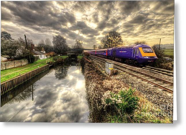 Hst Greeting Cards - An HST at Little Bedwyn  Greeting Card by Rob Hawkins