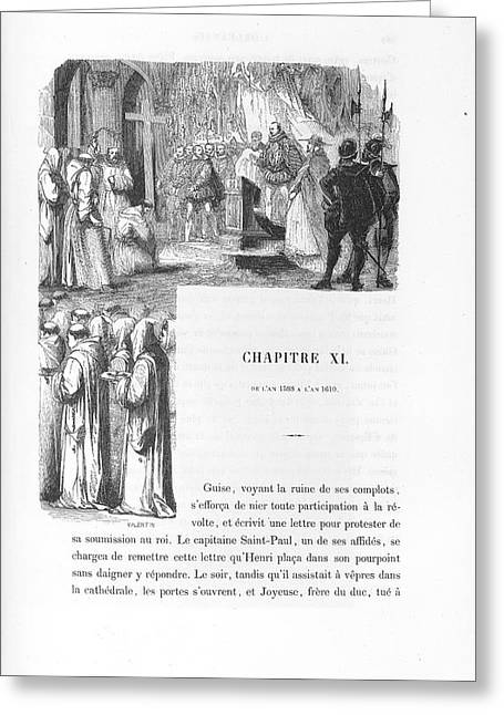 An Illustration Of A Person Being Flogged Greeting Card by British Library