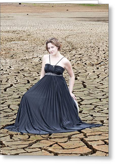 Dry Lake Greeting Cards - An image of elegance Greeting Card by Teri Schuster
