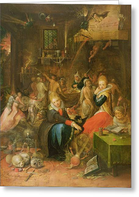 Familiar Greeting Cards - An Incantation Scene, 1606 Greeting Card by Frans II the Younger Francken