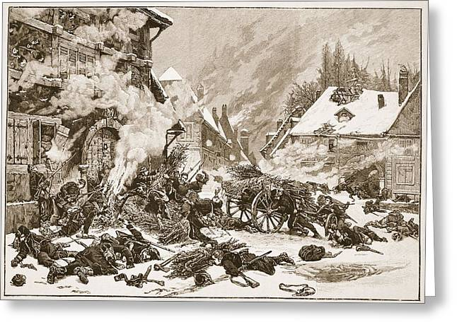 Combat Greeting Cards - An Incident In The Battle Greeting Card by Alphonse Marie de Neuville
