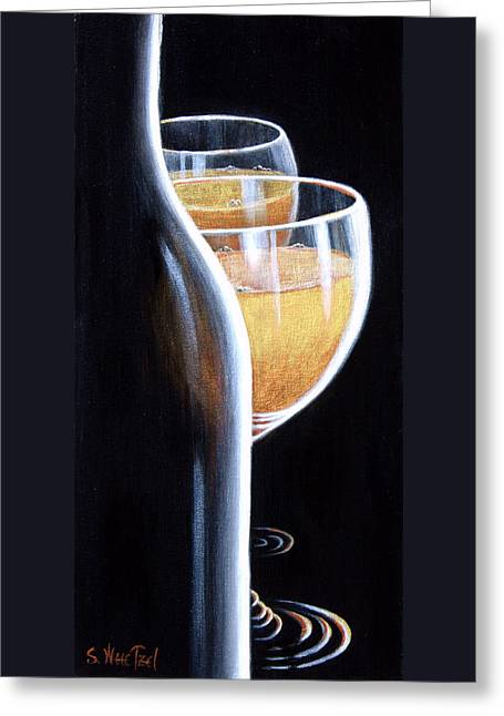 Bubbly Paintings Greeting Cards - An Indecent Proposal Greeting Card by Sandi Whetzel