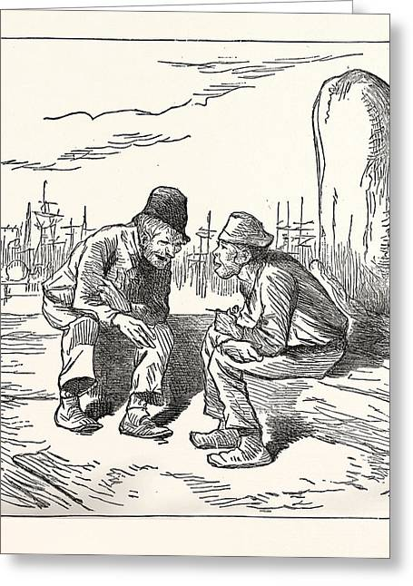An Intelligent Voter, Engraving 1880, Us, Usa, Election Greeting Card by American School