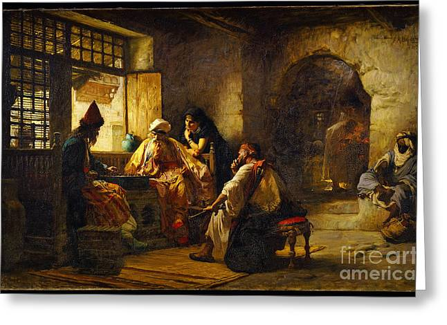 Trimmings Greeting Cards - An Interesting Game Greeting Card by Frederick Arthur Bridgman
