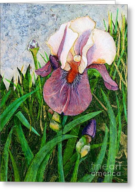 Southern France Mixed Media Greeting Cards - An Iris for Lily Greeting Card by Pamela Iris Harden