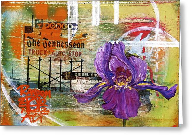An Iris For The Tennessean Greeting Card by Andrea LaHue aka Random Act