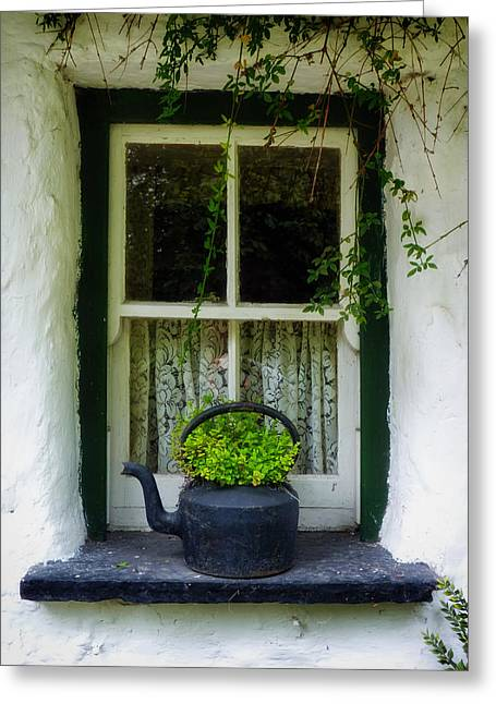 Window Ledge Photographs Greeting Cards - An Irish Welcome Greeting Card by Mountain Dreams