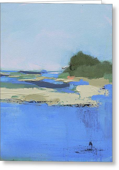 Abstract Beach Landscape Greeting Cards - An Island Made for Two Greeting Card by Jacquie Gouveia