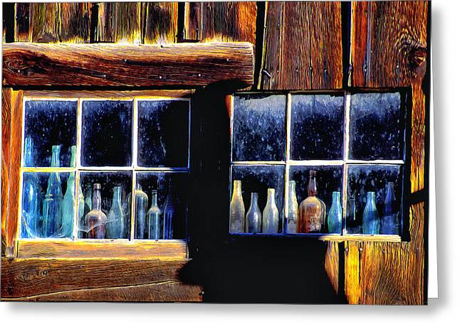 Barn In Woods Photographs Greeting Cards - An Isolated Gathering Greeting Card by Barbara D Richards