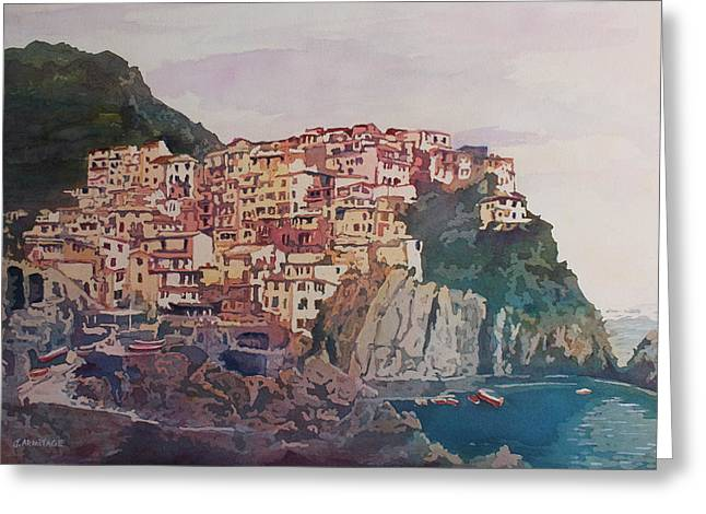 South Italy Greeting Cards - An Italian Jewel Greeting Card by Jenny Armitage