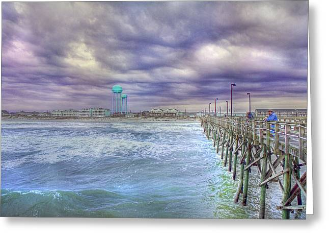 Thunderstorm Greeting Cards - An Ocean of Clouds Greeting Card by Betsy C  Knapp