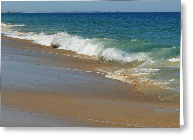 An Ocean View  Greeting Card by Neal  Eslinger