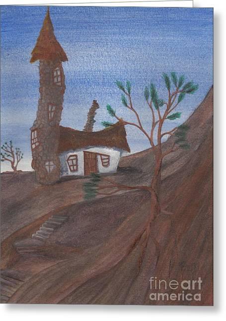 Recently Sold -  - Robert Meszaros Greeting Cards - An Odd Folly Greeting Card by Robert Meszaros