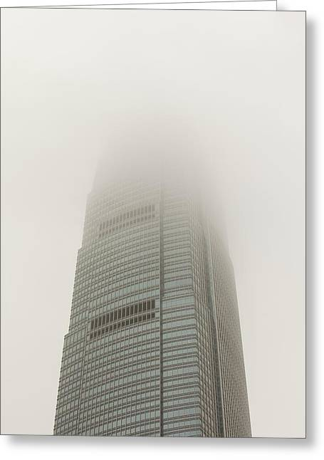 An Office Block In Hong Kong Greeting Card by Ashley Cooper