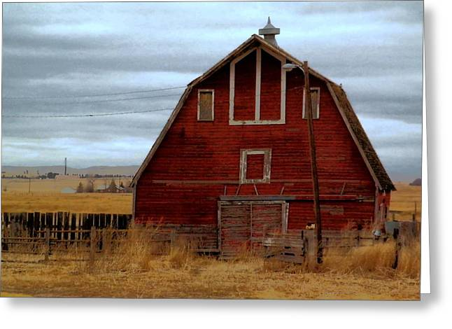 Old Barns Greeting Cards - An Old Barn In Watford City North Dakota Greeting Card by Jeff  Swan