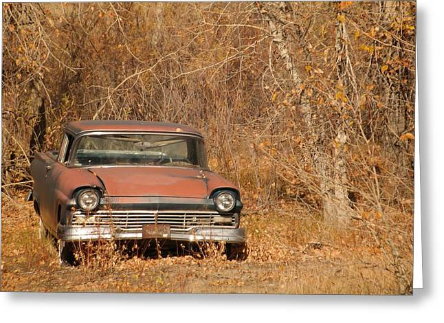 Metal Tires Greeting Cards - An Old Beauty Greeting Card by Jeff  Swan