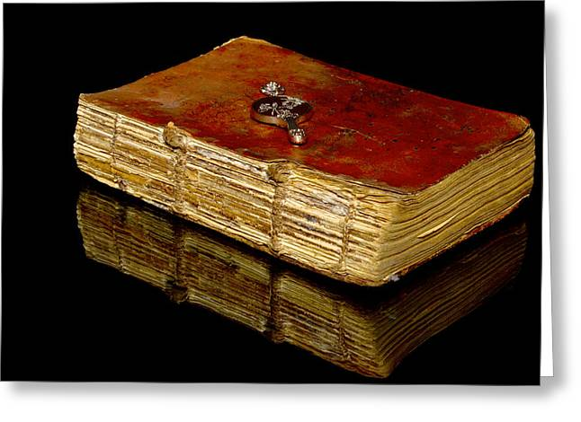 Bookstore Greeting Cards - An old bible Greeting Card by Toppart Sweden
