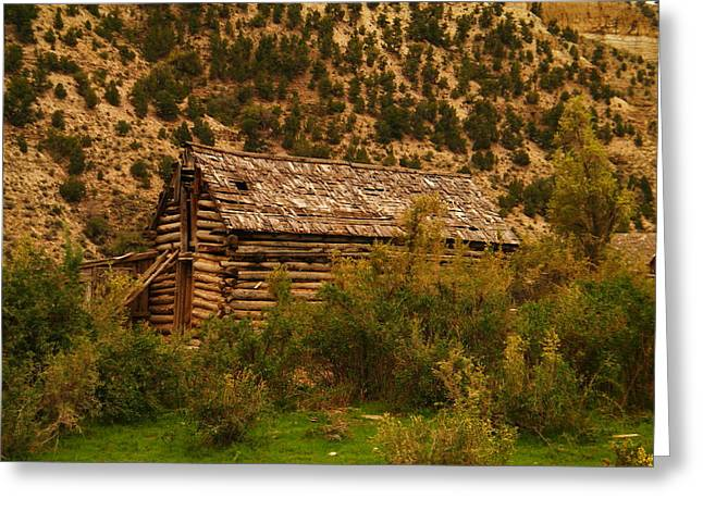 Old Wood Cabin Greeting Cards - An Old Cabin In Utah Greeting Card by Jeff  Swan