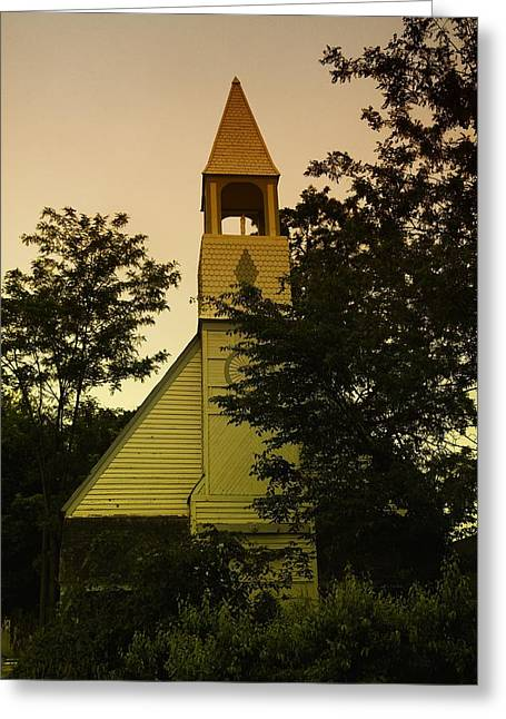 Wooden Building Greeting Cards - An Old Church Near Moxee Wa Greeting Card by Jeff  Swan