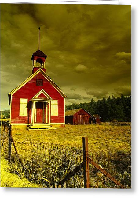 Wooden Building Greeting Cards - An Old Church Outside Leadville Colorado Greeting Card by Jeff  Swan