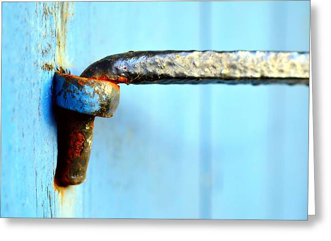 Hardware Greeting Cards - An old door hinge Greeting Card by Toppart Sweden