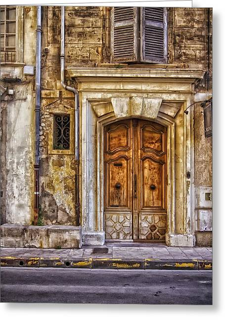 Old Door Greeting Cards - An Old Door in Rome Greeting Card by Mountain Dreams