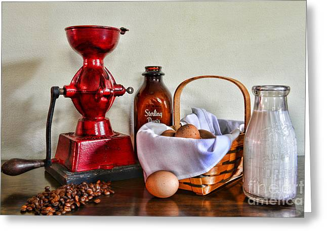 An Old Fashion Breakfast Greeting Card by Paul Ward