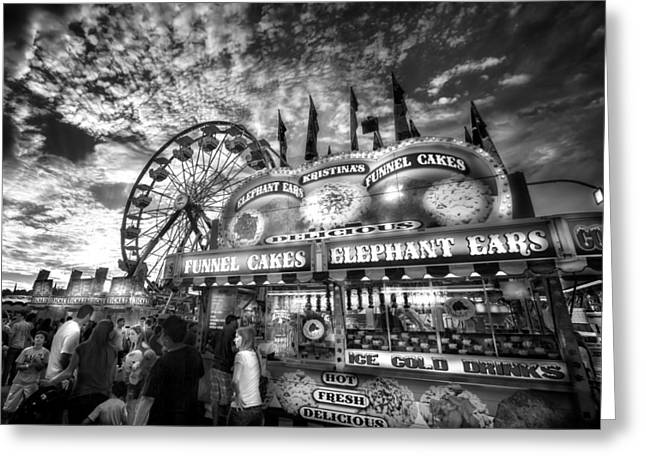An Old Fashioned Carnival Greeting Card by Mark Andrew Thomas