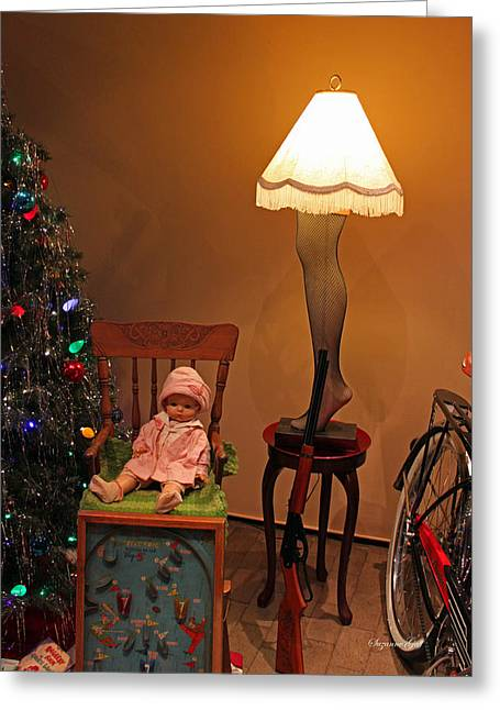 Collectors Toys Photographs Greeting Cards - An Old Fashioned Christmas - A Christmas Story Greeting Card by Suzanne Gaff