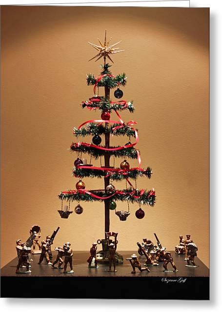 Collectors Toys Photographs Greeting Cards - An Old Fashioned Christmas Tree II Greeting Card by Suzanne Gaff