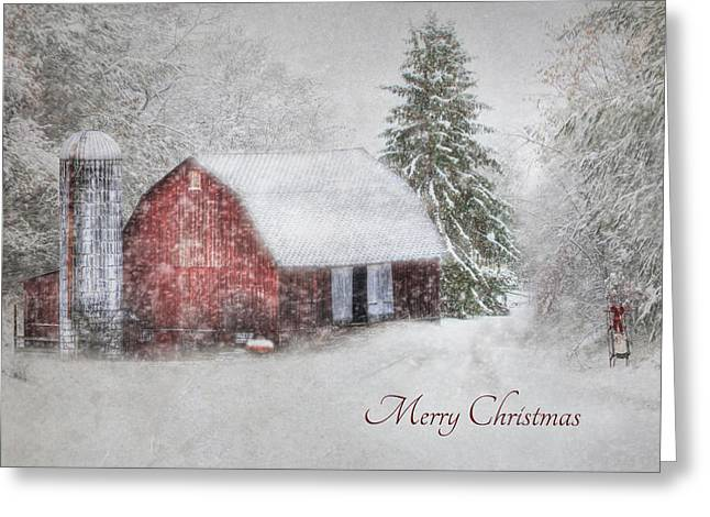 An Old Fashioned Merry Christmas Greeting Card by Lori Deiter