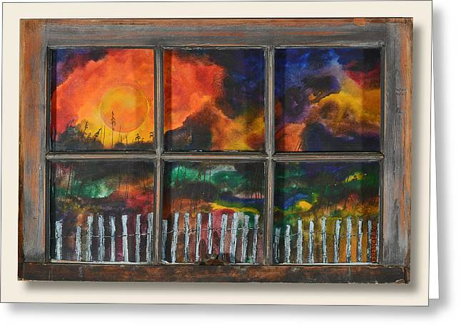 Fall Grass Mixed Media Greeting Cards - An Old Fence Greeting Card by Peter Freischlag