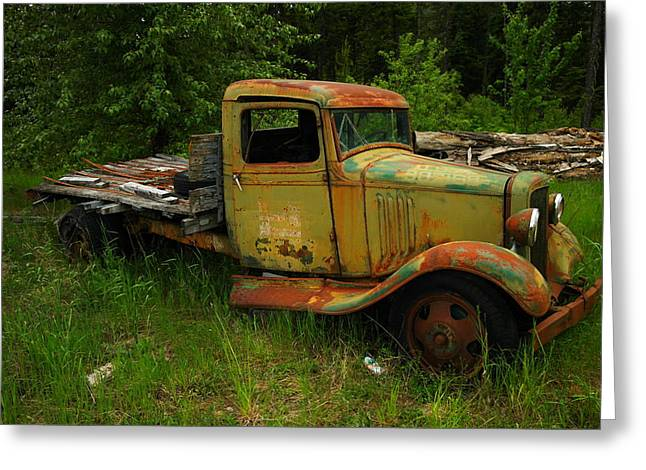 An Old Flatbed Greeting Card by Jeff Swan
