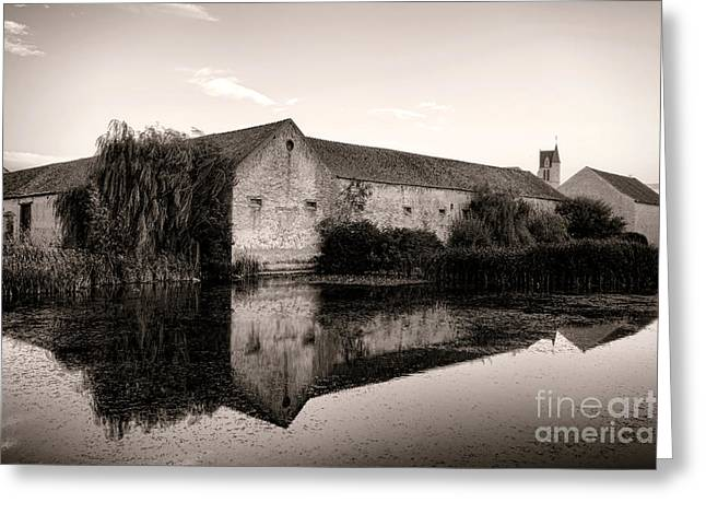 Compounds Greeting Cards - An Old Fortified Farm Greeting Card by Olivier Le Queinec