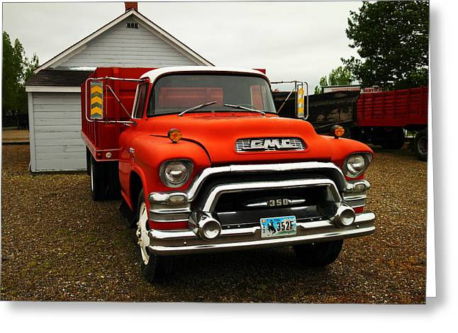 Old Relics Photographs Greeting Cards - An Old Gmc  Greeting Card by Jeff  Swan