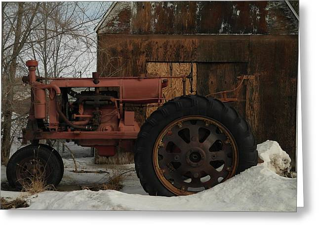 Old Relics Greeting Cards - An Old John Deer Greeting Card by Jeff  Swan