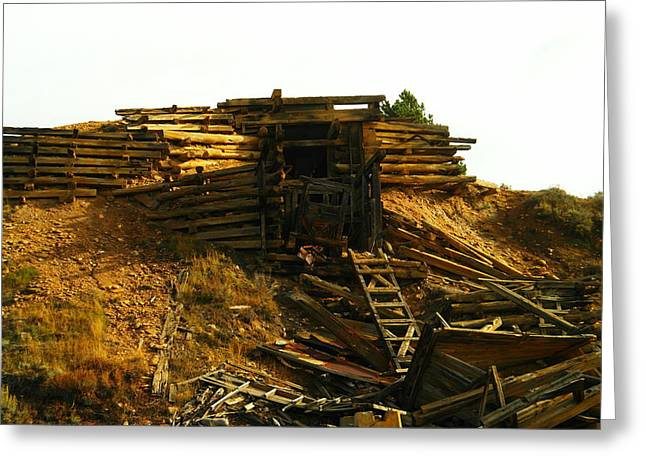 Old Mine Greeting Cards - An Old Mine Entrance In Leadville Colorado  Greeting Card by Jeff  Swan