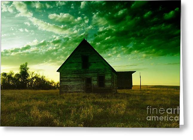 AN OLD NORTH DAKOTA FARM HOUSE Greeting Card by Jeff  Swan