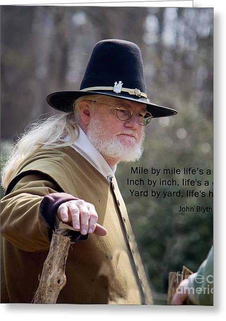 Pilgram Greeting Cards - An Old Saying Greeting Card by Sandra Clark