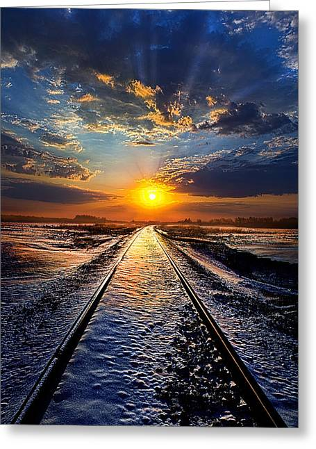 Train Tracks Greeting Cards - An Old Song Greeting Card by Phil Koch