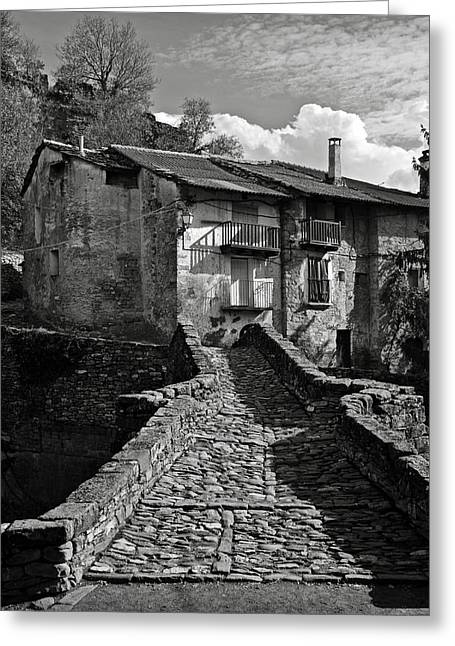 Abandoned Houses Greeting Cards - An old spanish town Puente de Montanana Greeting Card by RicardMN Photography