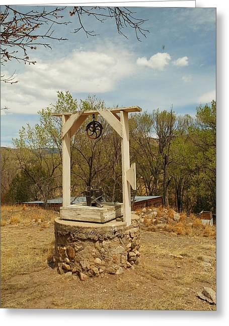 An Old Well In Lincoln City New Mexico Greeting Card by Jeff Swan