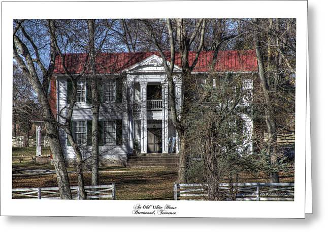 Brentwood Tennessee Greeting Cards - An Old White House Brentwood TN Greeting Card by Gina Munger