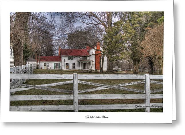 Tn Greeting Cards - An Old White House Greeting Card by Gina Munger