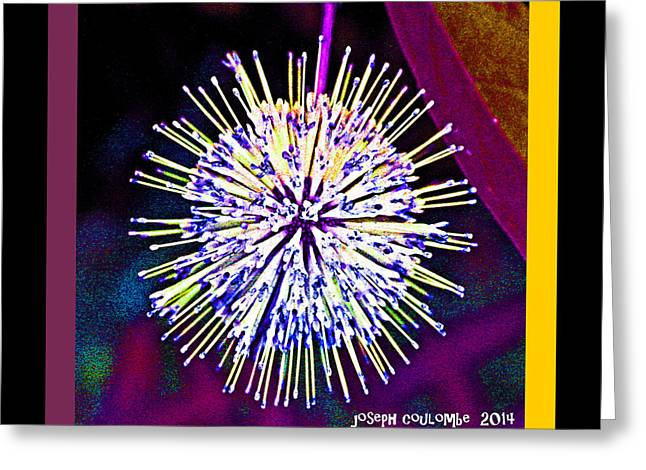 Asexual Digital Art Greeting Cards - An Orgasmic Moment of a Spore Greeting Card by Joseph Coulombe