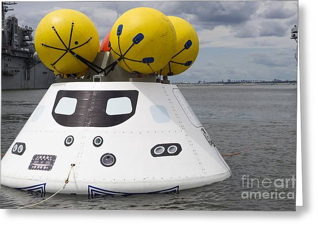 Capsule Greeting Cards - An Orion Capsule Before Being Towed Greeting Card by Stocktrek Images