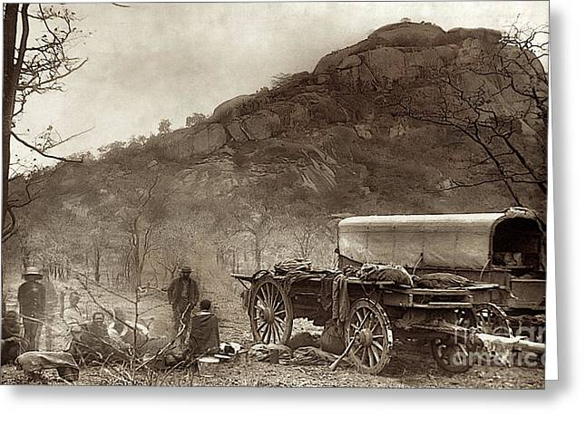 Zimbabwe Greeting Cards - An Outspan near the Lundi River - 1890 Greeting Card by Outpost Imagery