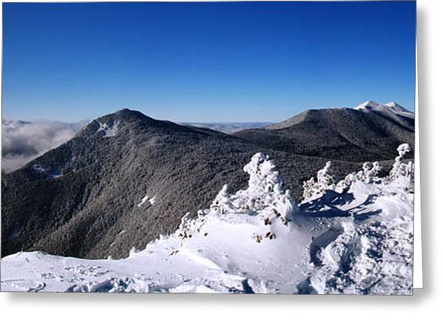 New England Snow Scene Greeting Cards - An Undercast Day on Mount Flume Greeting Card by Christopher Whiton