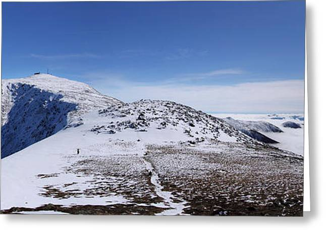 New England Snow Scene Greeting Cards - An Undercast Winter Day on Mount Washington Greeting Card by Christopher Whiton